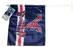 Atlanta Braves MLB 12 Inch X 11 Inch Car Flag Wincraft Sport