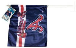 Atlanta Braves MLB 12 Inch X 11 Inch Car Flag Wincraft Sport