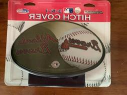 Atlanta Braves MLB 3-N-1 Trailer Hitch Cover New