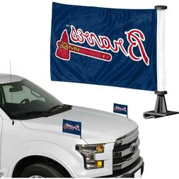 Atlanta Braves MLB Ambassador Car Flag Set