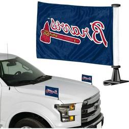 Atlanta Braves MLB Ambassador Car Flag Set