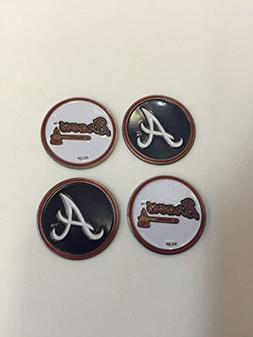 Atlanta Braves MLB Golf Ball Markers 4-Pack