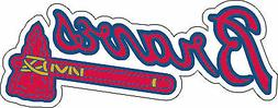 Atlanta Braves MLB Baseball Bumper sticker, wall decor, viny