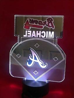 Atlanta Braves MLB Baseball Mirror Stadium Light Up Lamp LED