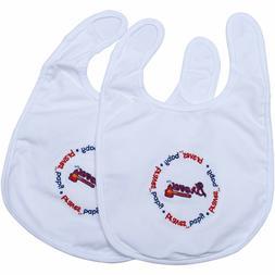 ATLANTA BRAVES MLB Bib 2 Pack Baby Toddler One Size Cotton H
