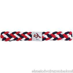 atlanta braves mlb braided style elastic headband