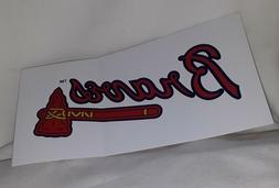 Atlanta Braves MLB Bumper Sticker Decal White Red Blue Gold