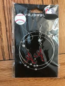 """Atlanta Braves MLB Earrings 2"""" Hoop Style"""