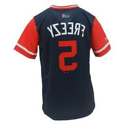 Atlanta Braves MLB Genuine Kids Youth Size Ozzie Albies Jers