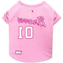 Atlanta Braves MLB Officially Licensed Dog Pet Girl Pink Jer
