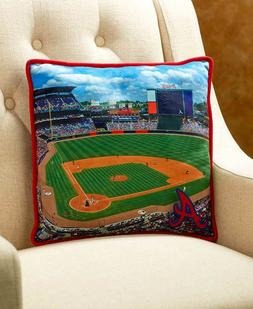 ATLANTA BRAVES MLB STADIUM PILLOW BASEBALL COUCH SOFA CHAIR