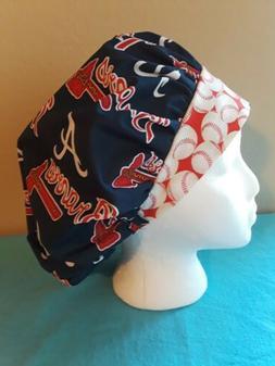 Atlanta Braves MLB Women's Bouffant Surgical Scrub Hat/Cap H