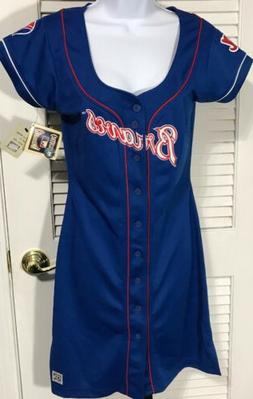Atlanta Braves MLB Women's M Jersey Dress fits Small Coopers
