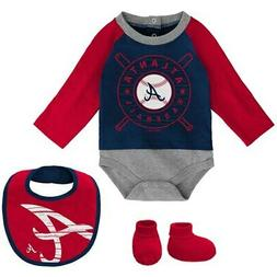 atlanta braves newborn and infant navy red