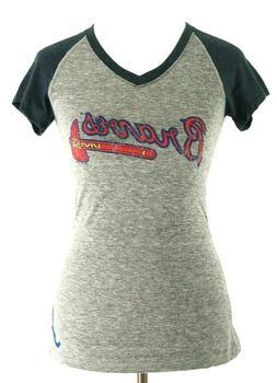 Atlanta Braves Official MLB Baseball Women's Cute Shirt New