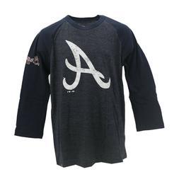 Atlanta Braves Official MLB Majestic Kids Youth Size Long Sl
