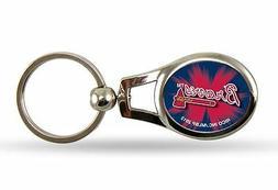 Atlanta Braves Oval Key Chain MLB Keyring