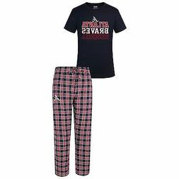 Atlanta Braves Pajamas Medalists Men's Shirt And Pants Sleep