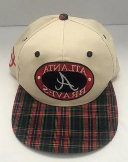atlanta braves plaid red off white baseball
