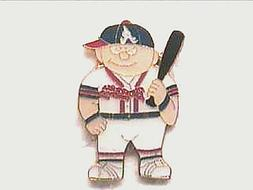 ATLANTA BRAVES PLAYER WITH BAT COLLECTIBLE LAPEL HAT PIN BY
