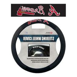 Atlanta Braves Poly Suede Steering Wheel Cover  MLB Car Truc