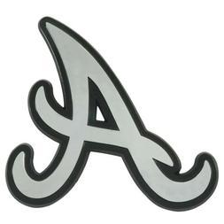 Atlanta Braves Premium Solid Metal Chrome Raised Auto Emblem