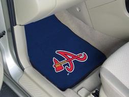 Atlanta Braves 2-pc Printed Carpet Car Mat Set