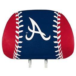 Atlanta Braves PRINTED Full COLOR 2-pack Head Rest Covers El