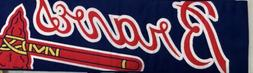 Atlanta  Braves Rally Scarf Banner. Over 50 Inches Long. New