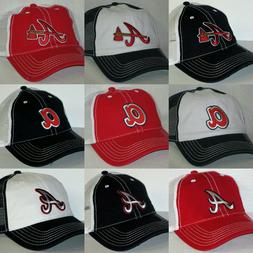 Atlanta Braves Retro Snapback Cap ~Hat ~MLB Patch Logo ~3 Co