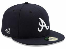 New Era Atlanta Braves ROAD 59Fifty Fitted Hat  MLB Cap