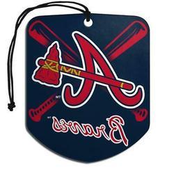 Atlanta Braves Shield Design Air Freshener 2 Pack  MLB Fresh