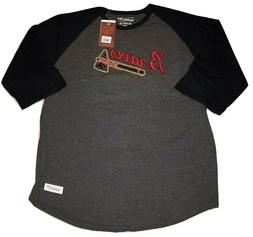 atlanta braves shirt 3 4 sleeve raglan