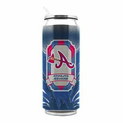 atlanta braves stainless steel thermo can 16