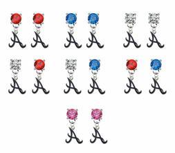 Atlanta Braves Style 3 Crystal Earrings Stud Post Dangle - M