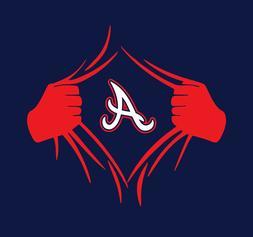 Atlanta Braves Superman Rip shirt Acuna Albies Austin Riley