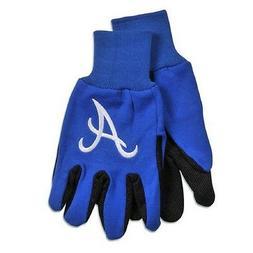 Atlanta Braves Two Tone Adult Size Gloves  NFL Work Hands Sc