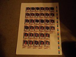 """Atlanta Braves-Uncut sheet with 34 players on it, 26"""" Tall X"""