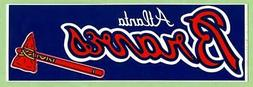 ATLANTA BRAVES ~ Vintage Bumper Sticker