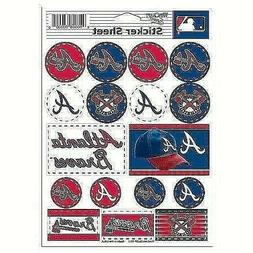 Atlanta Braves Vinyl Die-Cut Sticker Set / Decal Sheet *Free