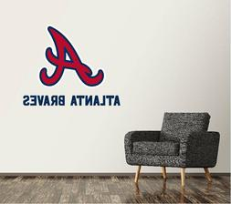 Atlanta Braves Wall Decal Logo Baseball MLB Art Decor Custom