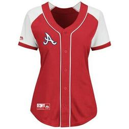 Atlanta Braves Majestic Women's Plus Size Fashion Replica Je