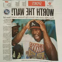 Atlanta Constitution TSHIRT BRAVES 1993 Worth The Wait Divis