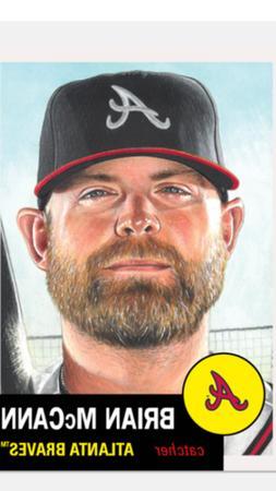 baseball living set card atlanta braves brian