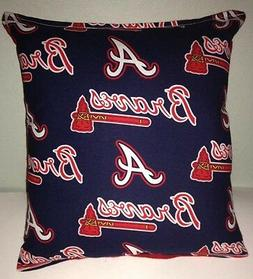 Braves Pillow Atlanta Braves Pillow MLB Handmade in USA Pill