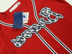 Braves Red Home Stars & Stripes Coolbase Alternate Jersey Ma