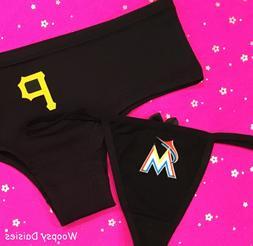 CHOICE of MLB TEAM Womans THONG or CHEEKY Boyshort Panties U