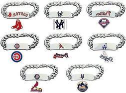 CHOOSE TEAM ID Bracelet New MLB Official Licensed 8.5In Heav