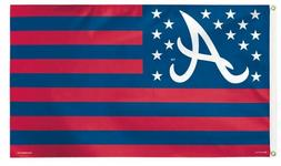 Deluxe Atlanta Braves Flag 3' x 5' Banner Made In USA !FREE