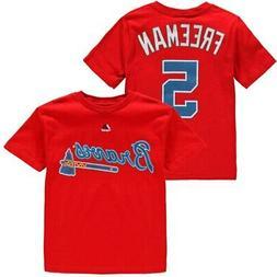 Freddie Freeman Atlanta Braves Majestic Youth Player Name &